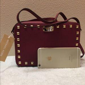 New Michael Kors crossbody big leather camera bag
